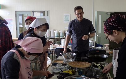 A day of German cooking and learning in Shizukuishi, northern Japan