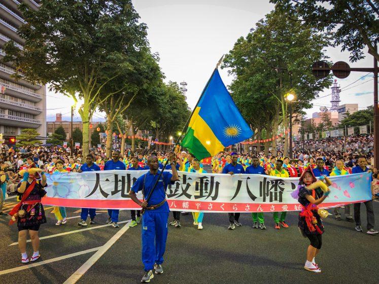 八幡平市とルワンダがスポーツやリンドウを通じた相互交流を行いました