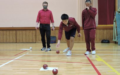 A step towards an intercultural society through the game of boccia (Tono, Iwate)