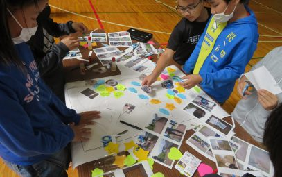 Elementary students in Ichinohe created a universal design map