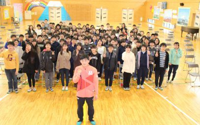 Presentation at Yoshida Elementary School by Tatsuhiro Yonemitsu (JOC Partner City Designation One Year Anniversary Commemoration Event)