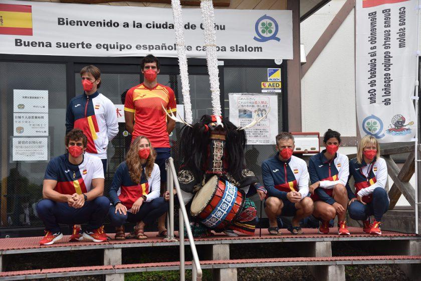 ポルトガルとスペインのカヌースラローム代表が奥州市で事前合宿を行いました