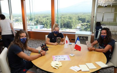 """2020 Tokyo Olympics: France National Women's Rugby Sevens training camp (""""Goshuincho"""" Temple Booklet Craft)"""